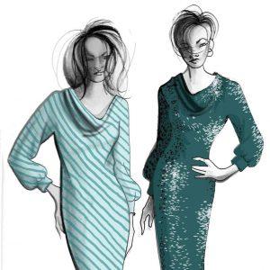 Cowl Knit Dress
